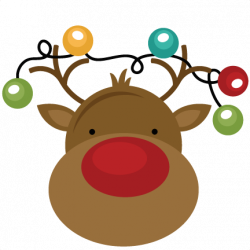 Christmas Lights clipart reindeer christmas