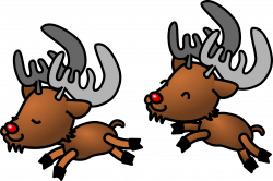 Caribou clipart christmas reindeer
