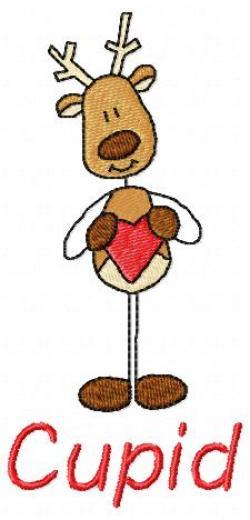 Reindeer clipart cupid