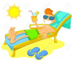 Relax clipart beach drink