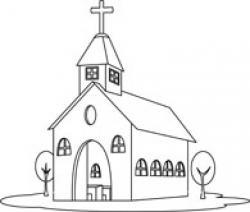 Monochrome clipart church