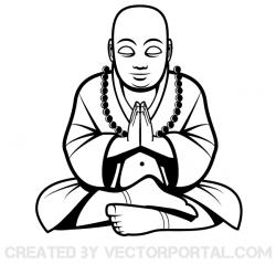 Buddha clipart drawing