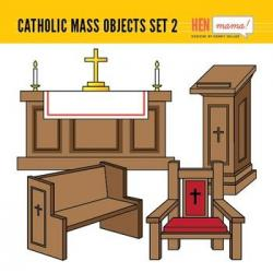 Altar clipart church pews