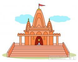 Temple clipart indian temple