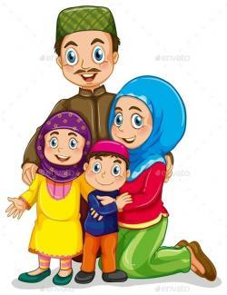 Arab clipart islamic family