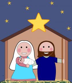 Religious clipart christmas card