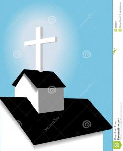 Steeple clipart country church