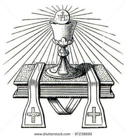 Altar clipart black and white
