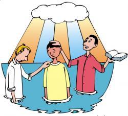 Christ clipart baptism