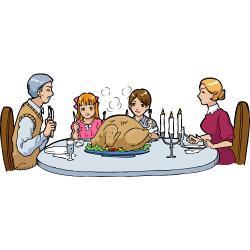 Diner clipart family dinner