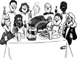 Feast clipart team dinner