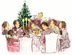 Religious clipart family dinner
