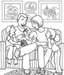 Religious clipart family portrait