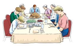 Diner clipart filipino family