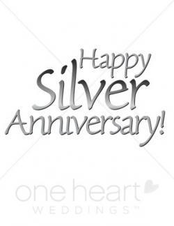 Silver clipart silver wedding anniversary