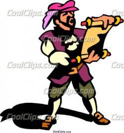 Renaissance clipart messenger person
