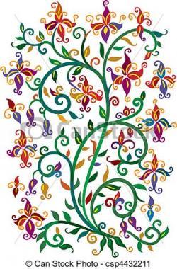 Vignette clipart floral