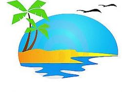 Coast clipart palm tree beach
