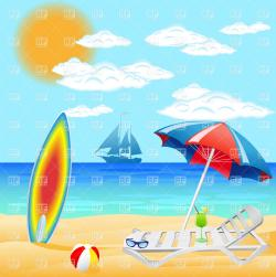 Resort clipart beach scene