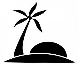 Oasis clipart black and white