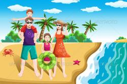 Resort clipart family beach vacation