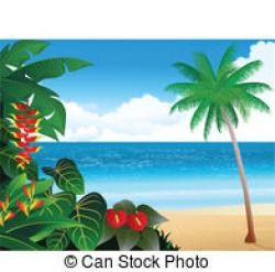 Caribbean clipart hawaii beach