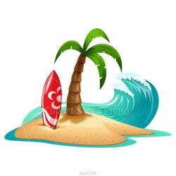 Resort clipart hawaii beach