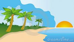 Resort clipart sunrise beach