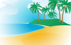Resort clipart tropical beach