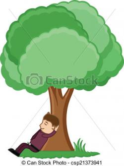 Resting clipart the tree