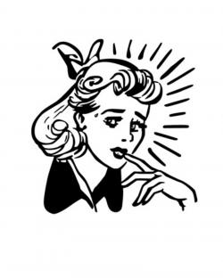 Nerves clipart nervous woman