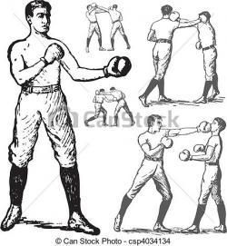 Boxer clipart retro