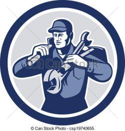 Retro clipart handyman