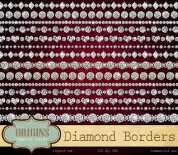 Rhinestone clipart diamond border
