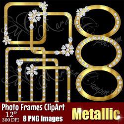 Rhinestone clipart digital frame