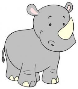 Colorful clipart rhino