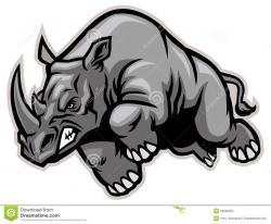 Charging Rhino clipart Angry Rhino Clipart