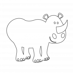 Colouful clipart rhino