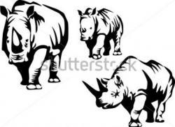 Charging Rhino clipart Rhino Outline Drawing