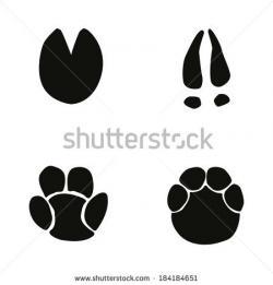Lemur clipart footprint