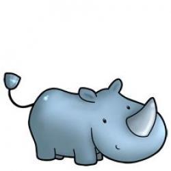 Drawn rhino cartoon