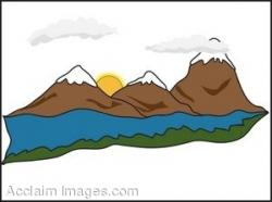 Lake clipart mountain stream