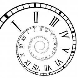 Spiral clipart clock