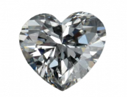 Silver clipart diamond heart