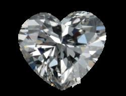 Silver clipart diamond heart