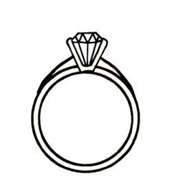 Veil clipart diamond ring