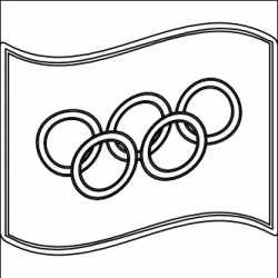 Olympic Games clipart black and white