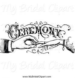 Ceremony clipart vintage wedding