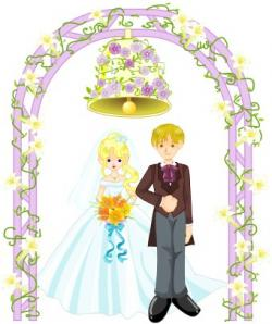 Dove clipart wedding arch