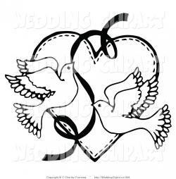 Drawn lovebird marriage